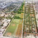 Renderings of the Lafitte Greenway via The Lafitte Greenway Master Plan.