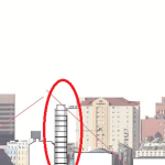 """Trahan's proposed 12 story """"sliver"""" building at 309 Magazine Street"""