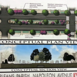 Renderings of the new Napoleon Avenue via U.S. Army Corps of Engineers.