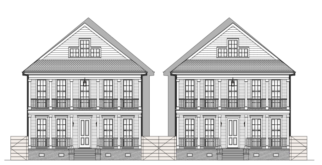 Baker's Row Elevation