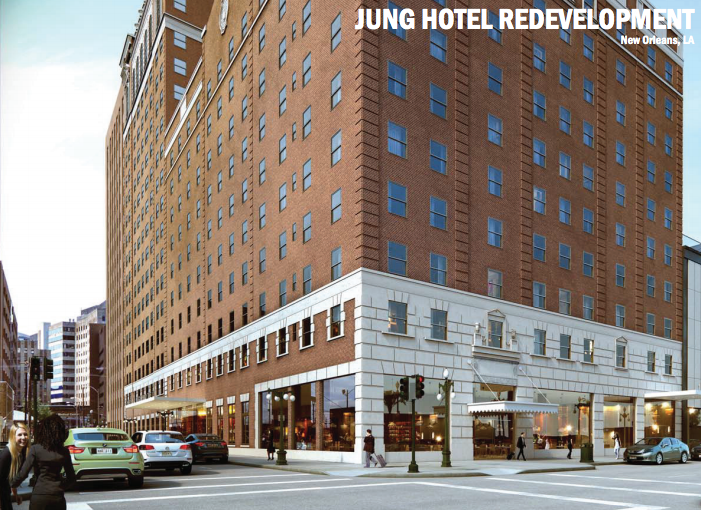 Rendering of the Jung Hotel via Trahan Architects and Mcdonnel.com.