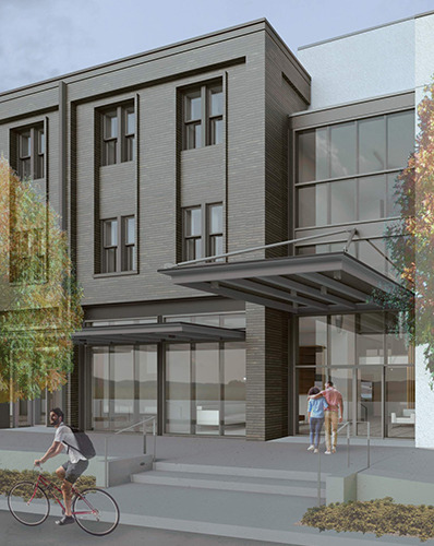 Exterior Rendering of 1581 Magazine Street via City of New Orleans.  Design by Studio WTA.