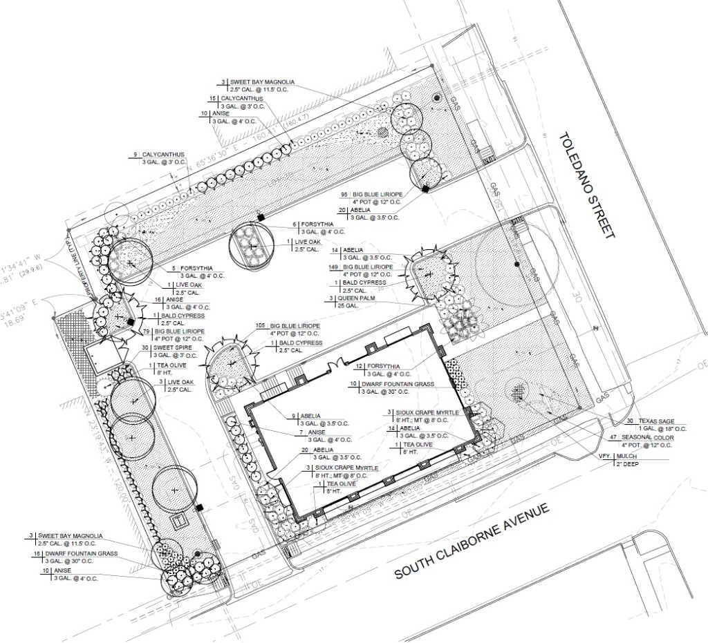 Plans for new mattress store at 3301 S. Claiborne Avenue via City of New Orleans.