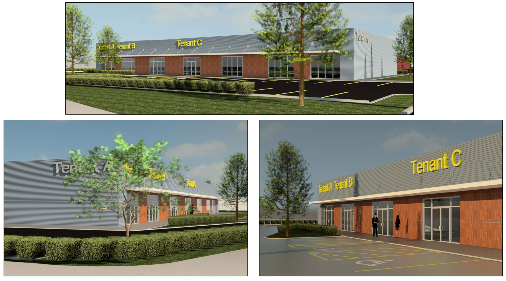 Rendering of a possible retail center at 4221 Old Gentilly Road.