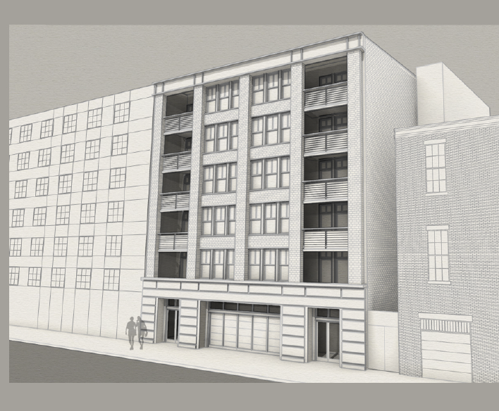 Rendering of 611-615 Commerce Street by Metro Studio Architects via City of New Orleans