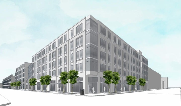 Rendering of the new apartment complex planned for 730 Julia Street. Rendering by Trapolin-Peer Architects.