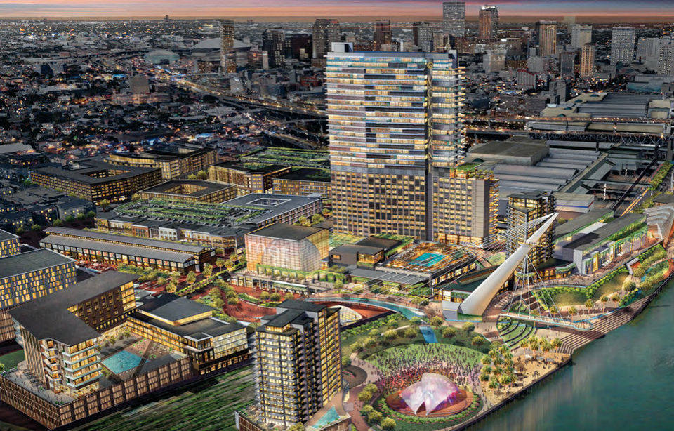 A rendering of the Trade District via the Earnest N. Morial Convention Center