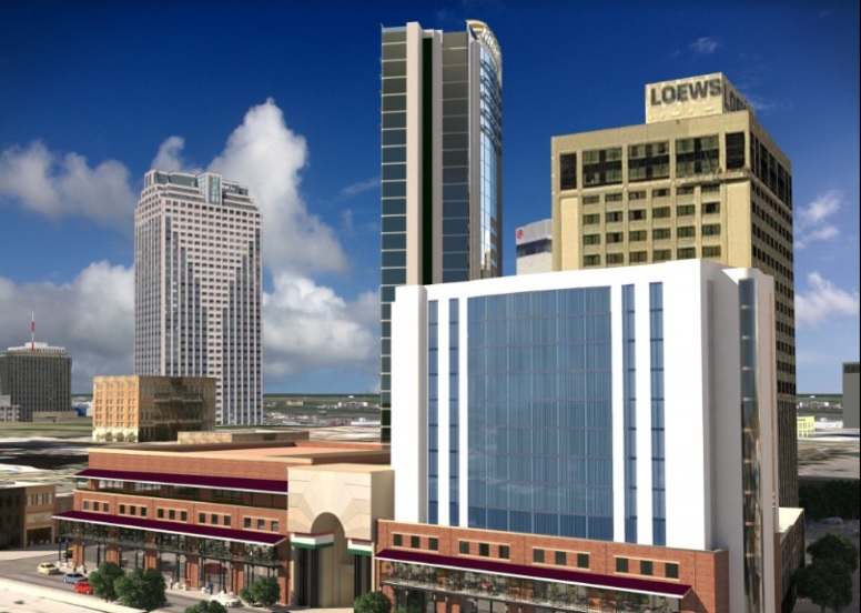 Rendering of the proposed Hard Rock Hotel