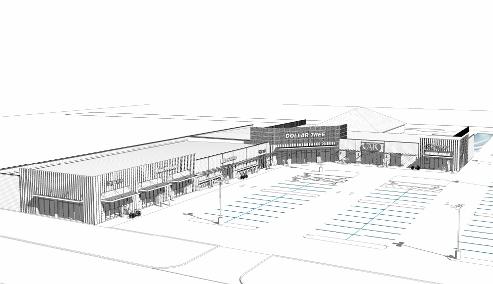 Rendering of the new strip center at 4242 Chef Menteur Hwy via City of New Orleans.