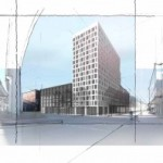 Rendering of of the project via Eskew+Dumez+Ripple Architects.