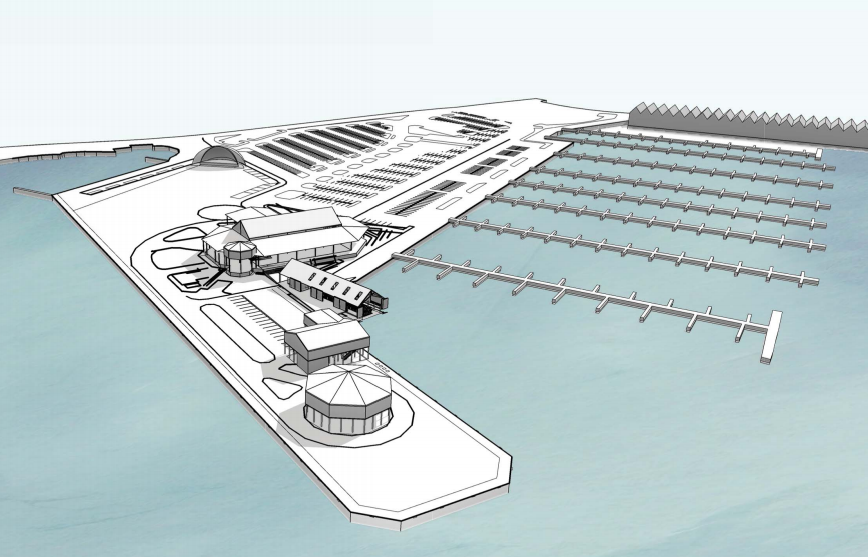 Rendering of the Tipitina's South Shore Harbor project by Eskew+Dumez+Ripple.