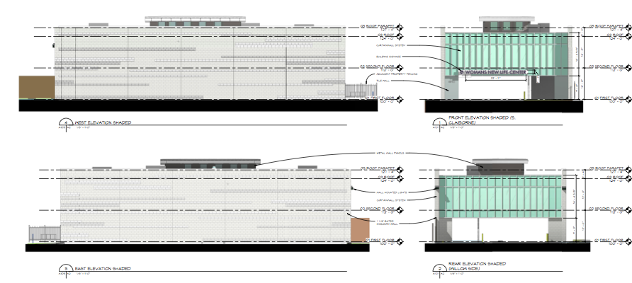 Plans of the new building at 4612 South Claiborne Avenue by HMS Architects via City of New Orleans