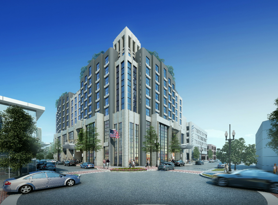 Rendering of the proposed $65 million, 234- room WWII Museum Hotel via the WWII Museum.